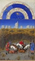 Monat Dezember  mit Sternzeichen aus dem Stundenbuch des Herzogs von Berry
